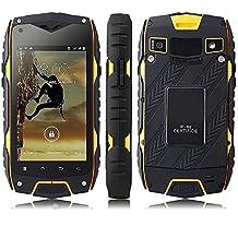 Bestore Z6+ IP68 antipolvere impermeabile cellulare antiurto (4.0 pollici, Android 4.2, MTK6572 Dual Core 1.2GHz, 1GB di RAM 16GB di ROM, fotocamera 8.0MP, WCDMA / GSM 3G) (giallo)