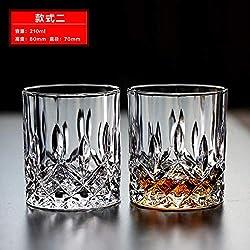 Luxury glass Coupe en Verre De Whisky en Cristal, Tasse À Vin, Tasse À Jus, Tasse À Lait, Tasse À Thé, Tasse À Bière, [2 Prix] Xiaofork
