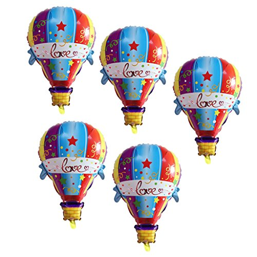 Baoblaze Folienballon Heißluftballon Heliumballon Luftballon Dekoration für Kinder Geburtstag Party Set/5Stück