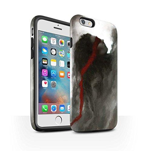 Offiziell Chris Cold Hülle / Glanz Harten Stoßfest Case für Apple iPhone 6S+/Plus / Hades/Phantom Muster / Unterwelt Kollektion Rotes Band-Engel