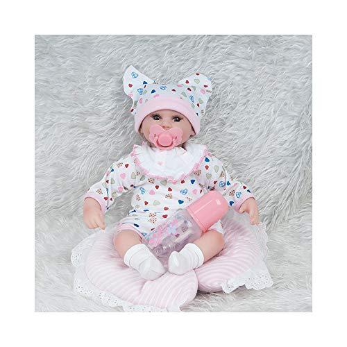 Marionetten Kostüm Mädchen - ADATEN Lovely Reborn Baby Puppen Pflege Puppe Handarbeit 45 cm Höhe Tuch Körper Weich Silikon Lebensecht Aufwachsen Partner Mit Schön Kostüm Mädchen Junge