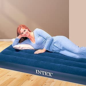 Intex Classic Jr T, Materassino Gonfiabile, Blu , 191 x 76 x 22 cm