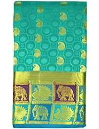 Saravanabava Silks - Kanchipuram Silks Sarees ( Mixed Pattu Elephant Peacock Bordr Embossed Body Traditional SRBS03111 )