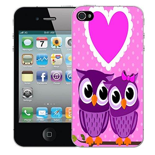 Nouveau iPhone 5 clip on Dur Coque couverture case cover Pare-chocs - metaphysical Motif avec Stylet loveheart owls