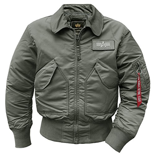 Alpha Industries Fliegerjacke CWU-45 Jacke Repl.-Grey