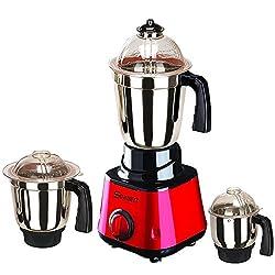 Sunmeet Red Color 550Watts Mixer Juicer Grinder with 3 Jar (1 Large Jar, 1 Medium Jar and 1 Chuntey Jar)