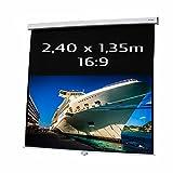 KIMEX 041-3415 Ecran de Projection Manuel 2,40 x 1,35m, Format 16/9