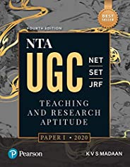NTA UGC NET/SET/JRF : Teaching & Research Aptitude Paper 1|Fourth Edition|BY Pearson