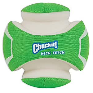 Chuckit! CI Kick Fetch Max Glow Dog Toy, 14 cm, Small 14