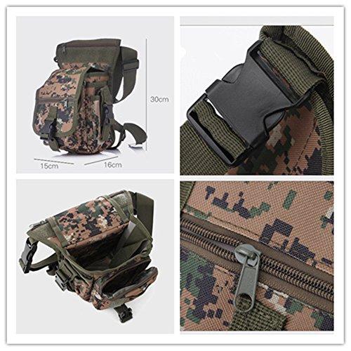 Wewod Hüfttasche Tactical mit Trinkflasche und verstellbarem Bauchgurt/Mode Multifunktionale Gürteltasche Handytasche für Camping Wandern Outdoor Digital-Dschungel-Trompete