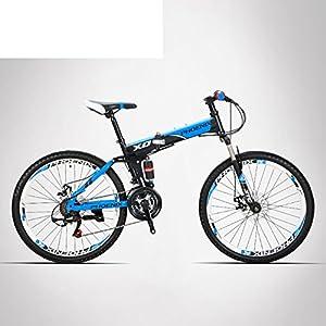 513ldVJdnDL. SS300  - HIKING BK Travel Bike 21-speed Folding Mountain Bike Off-road Students Adult Men And Women Race Bike Commuter Foldable Bicycle Shimono Shifter With Aluminium Frame Disc Brake