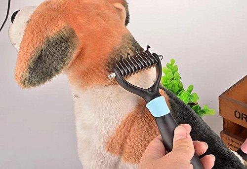 Comenzar Hundebürste Unterwollbürste Hundekamm Entfilzungstrimmer Fell-Entfilzungsstriege Hundestriegel Katzenbürste Ne