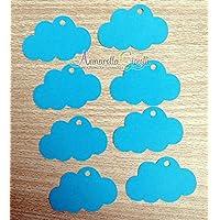 50 pezzi cartellini bimbo, NUVOLA per BATTESIMO, Prima Comunione, Cresima, 30x46 mm, carte regalo, Tag fai da te, chiesa, etichetta, confetti, bomboniere, nuvola azzurro