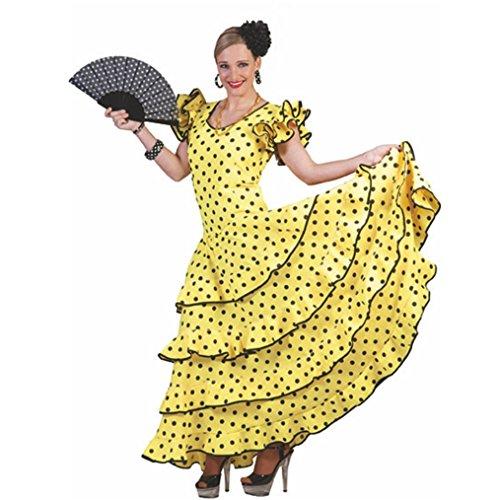 amba Kostüm für Damen Gr. 44 46 - Tolles Spanierin Brasilianerin Tänzerin Kleid (Samba Kleid Kostüm)