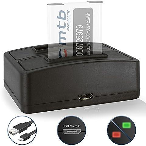 Caricabatteria doppio (USB) per Maginon / Rollei / Tevion /