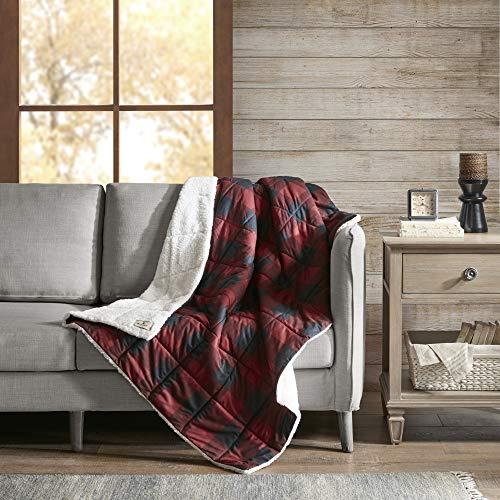 Woolrich Überwurfdecke für Couch, Bett 50X70 Inches rot Woolrich Throw