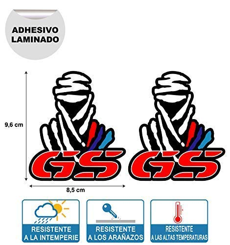 X 2 Pegatinas STIKERS Rally Compatible Dakar GS BMW