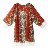NPRADLA 2018 Damen Bedruckte Chiffon Schal Kimono Cardigan Tops Vertuschen Bluse