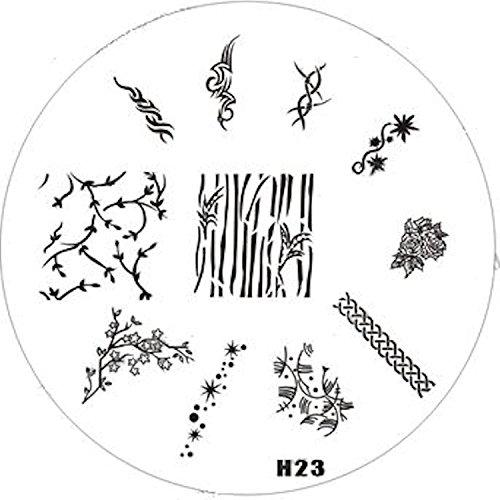 Pochoir de stamping # en H 23