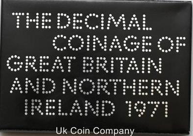 1971 Royal Mint Uk Decimal Coin Proof Set -
