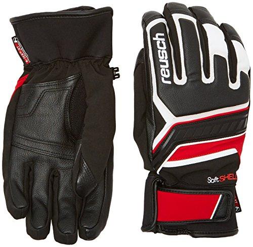Reusch guanti da uomo Thunder R-TEX XT, Uomo, Handschuhe Thunder R-TEX XT, black/White/fire red, 9.5