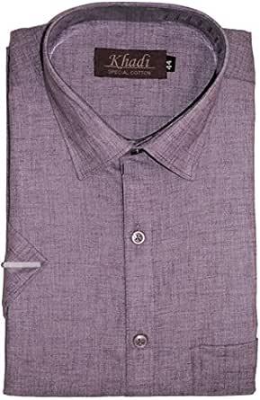Reverence Cotton Emporium Men's Cotton Half Sleeves Regular Fit Formal Shirt (Blueberry, 38)