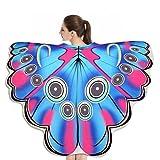 Ailes Papillon Adulte,Yannerr Soft Tissu Papillon Ailes ChâLe Plage Serviette FéE Dames Nymphe Pixie Costume Accessoire (Taille: à propos de 180X145CM, B)