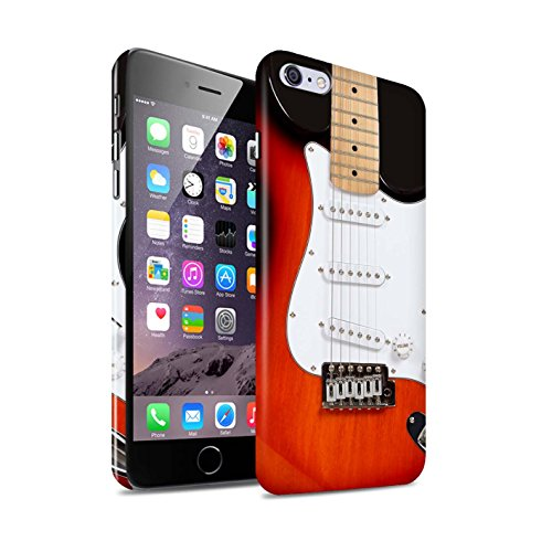 STUFF4 Glanz Snap-On Hülle / Case für Apple iPhone X/10 / Sunburst Electric Muster / Gitarre Kollektion Rot Electirc