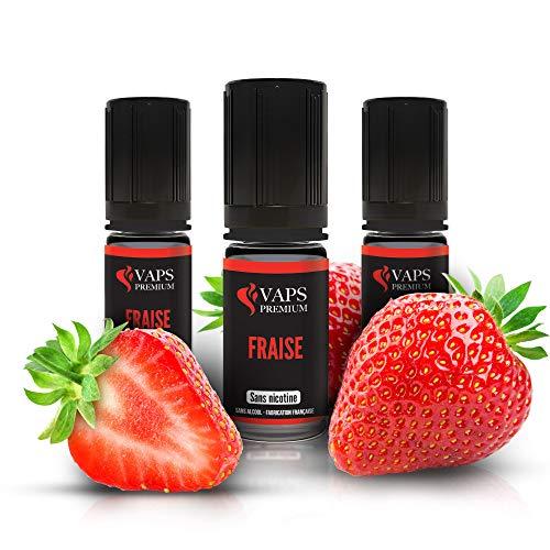 Vaps'Premium- FresaE-líquido - 3 x botellas 10