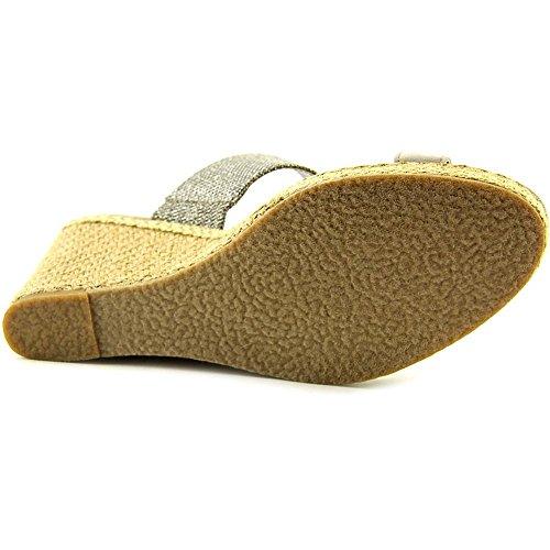 Dune London Kaleesi Di Femmes Toile Sandales Compensés Pewter
