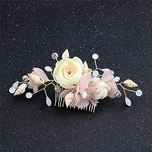 AILEYOU Romantische Haarschmuck Für Frauen, Braut Rose Blumenhaar Kamm Knospe Blume Haarspange Hochzeit Haarschmuck Haarkämme