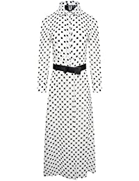 aec647836b Forever Unique U Collection EX18236 Women s Polka Dot Playsuit - White Black