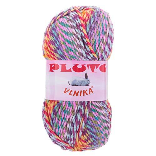 maDDma ® 5 x 100g Strickgarn Pluto Strick-Wolle Mehrfarbig bunt Handstrickgarn Flauschig Farbwahl, Farbe:84