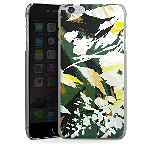 Apple iPhone X Silikon Hülle Case Schutzhülle Blumenmuster Blume Muster Hard Case anthrazit-klar
