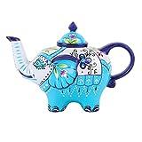 Artvigor, Porzellan Kaffeekanne, Handbemalt, 800 ml Teekanne, Elefant Design Tischdeko, Geschenk