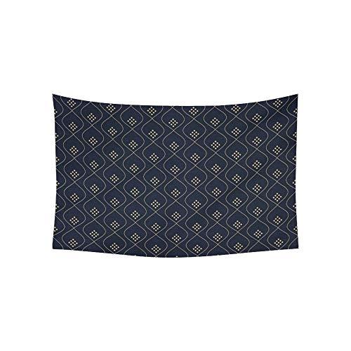 LMFshop Tapisserie Ogee Print Paisley Ornament auf Wandteppichen Wandbehang Blume psychedelischen Wandteppich Wandbehang indischen Wohnheim Dekor für Wohnzimmer Schlafzimmer 60 X 40 Zoll -
