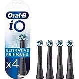 Oral-B iO Ultimate Clean Brossettes de rechange pour Brosse à Dents Électrique Format Spécial Boîte Aux Lettres, Noir, Pack d