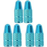 TOMALL Tapas de válvula de neumático de bicicleta Tapas de válvula francesas azul cielo para ciclismo (paquete de 6)