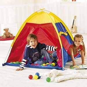 BABY-WALZ Tente igloo avec 100 balles tente enfant, multicolore