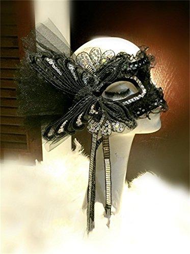 Jack Mall- Papillon dentelle côté fleur masque soirée dansante Masque Halloween