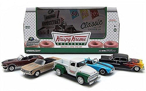 greenlight-164-motor-world-diorama-krispy-kreme-doughnuts-5-diecast-car-set-by-greenlight