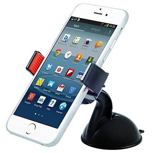 Maclean MC-658 Universal Auto Halterung mit Kugelgelenk KFZ Halter für Handy PDA GPS Smartphone Car Holder für Samsung Galaxy S6 S5 S4 Mini S4 iPhone 6 5s HTC One M8 M9 LG G3 G4 Sony Xperia Z2 und weitere Geräte Handy Pda Smartphone