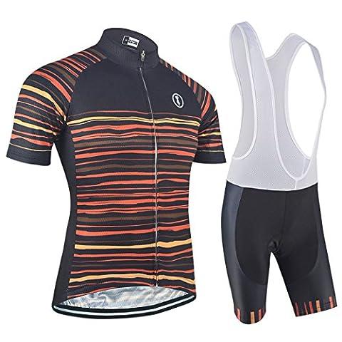 BXIO Brand Quick Dry Cycling Sets Cool Road Bike Cloth Jersey Short Sleeve Cycle Kits Pro Cycle Team Bike Clothing (Shirt And Bib Shorts,