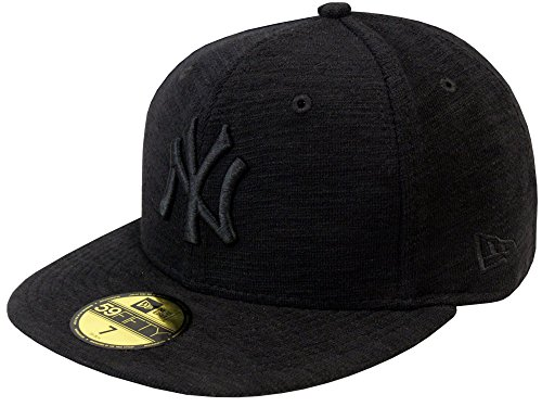 NEW ERA Baseball Cap 59FIFTY NY Yankees slub neyyan black on black Gr. 7 1/2 (Feld 59fifty Hat)
