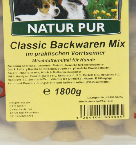Classic Dog Backwaren-Mix im Eimer, 1er Pack (1 x 1.8 kg) - 5