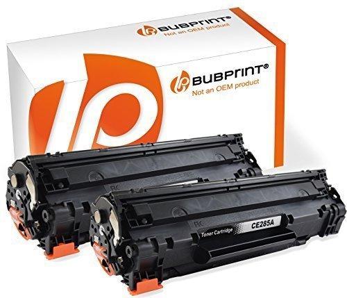 Bubprint 2 Toner kompatibel für HP CE285A 85A CE285X für Laserjet Pro M1100 M1132 M1136 M1200 M1212NF M1217NFW MFP P1102W P1108 P1109W Schwarz 2.100 Seiten