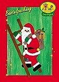 Fischer Fensterbild GROSSER WEIHNACHTSMANN AUF LEITER / Bastelpackung / Größe ca. 50x86 cm / zum Selberbasteln / Basteln mit Papier und Pappe für Weihnachten