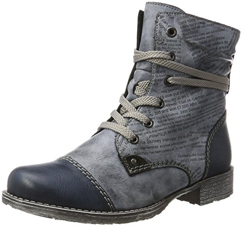 Rieker Damen 70822 Kurzschaft Stiefel, Blau (Navy/Ozean/Schwarz), 39 EU