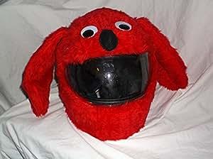 casque moto funny heeds crazy couvre casque de moto pour chien rouge auto et moto. Black Bedroom Furniture Sets. Home Design Ideas