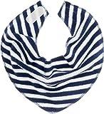 Playshoes Baby Dreieckstuch aus Fleece mit mit Klettverschluss an der Rückseite, gestreift legeres Hals-Tuch, marine/weiß, one size